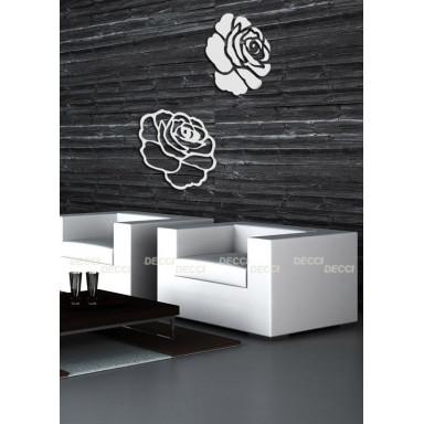 Акриловое зеркало Розы, цвет серебро