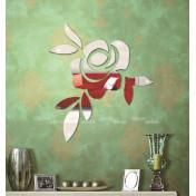 Цветущая роза акриловое зеркало
