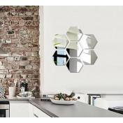 Зеркальные шестиугольники, сторона 9,2см, толщина 1мм, 7 шт