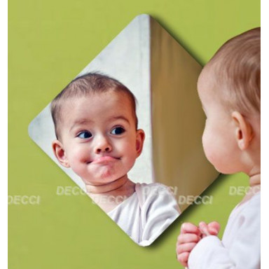 Наклейка на стену зеркальная Зеркальный квадрат (закругленные углы)
