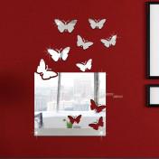 Зеркало-окно с бабочками